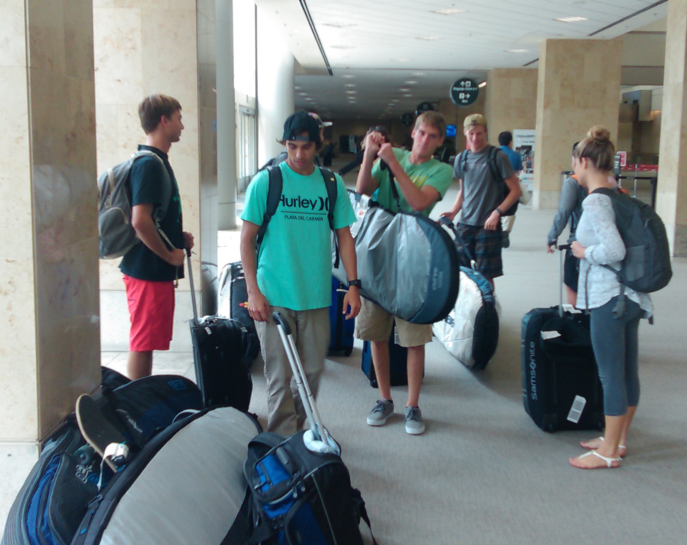 Florida Tech Surf Team during the 2015 Nationals Trip